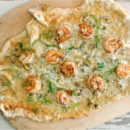 Shrimp Pizza With Cauliflower Base